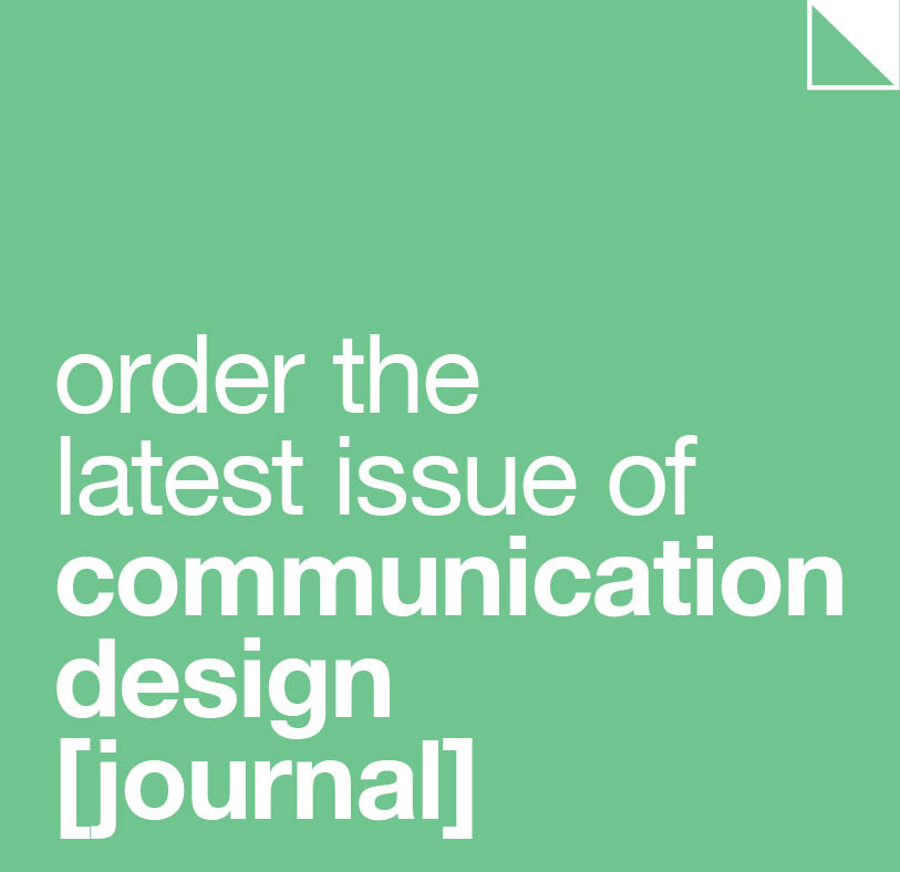 Order the latest issue of Communication Design [journal]