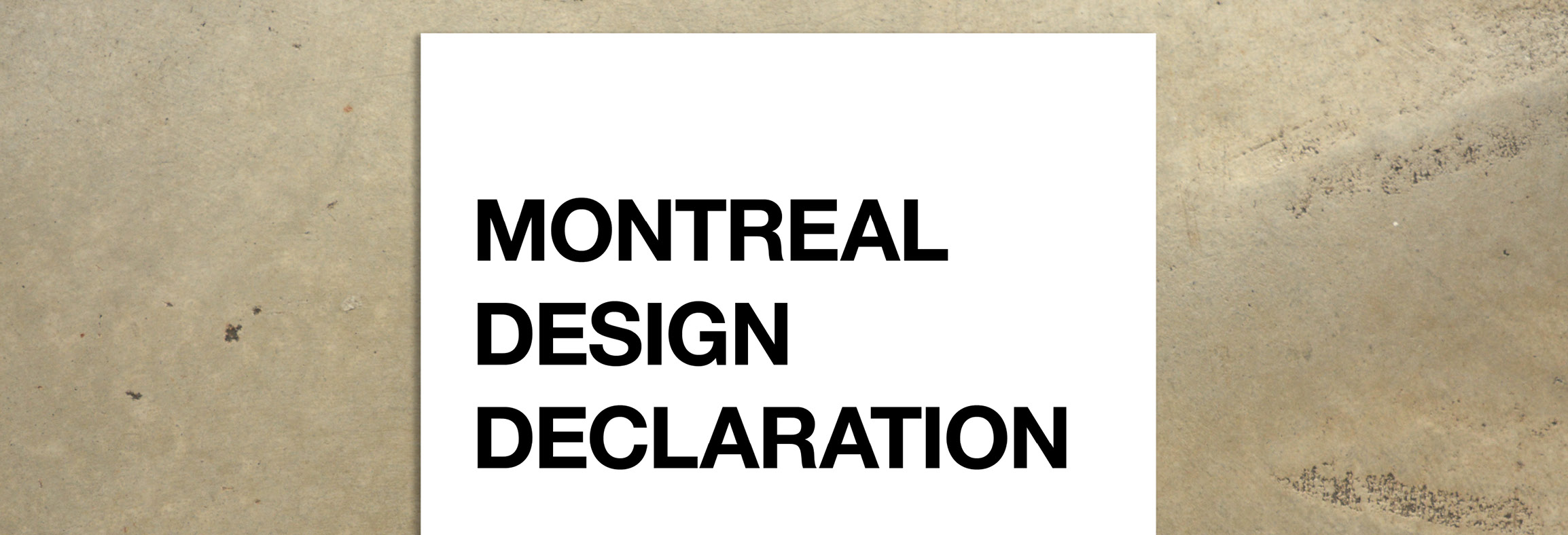 Montreal Design Declaration 2017