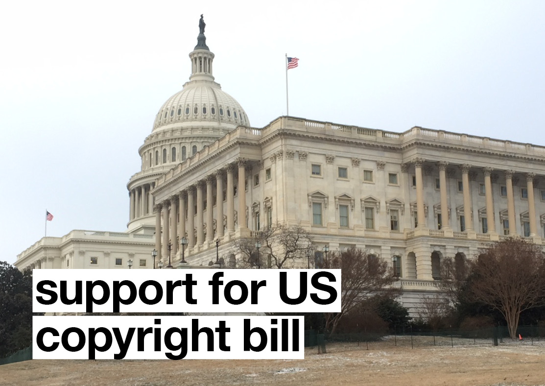 Support for US Copyright Bill