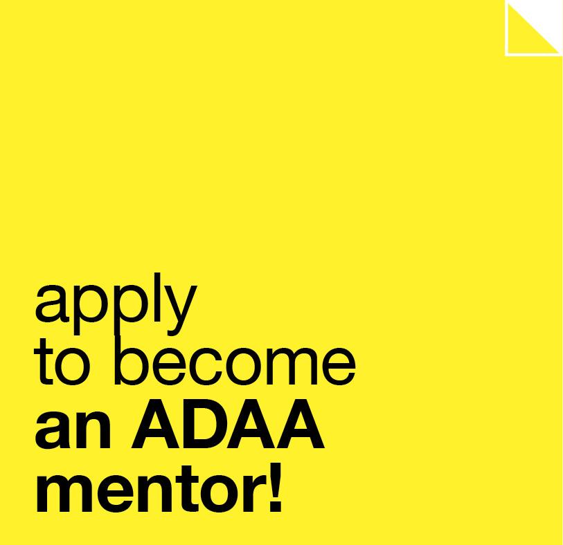 Become an ADAA mentor