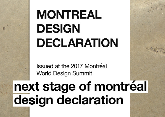Next stage of Montréal Design Declaration