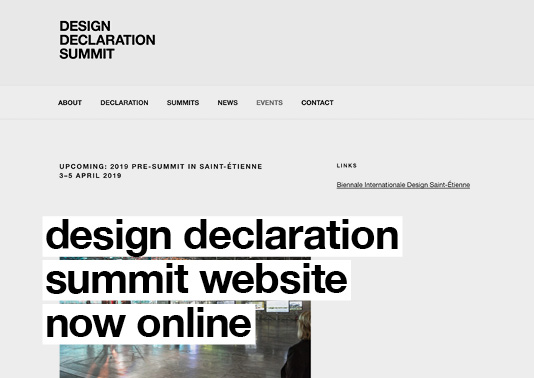 Design Declaration Summit Website Now Online