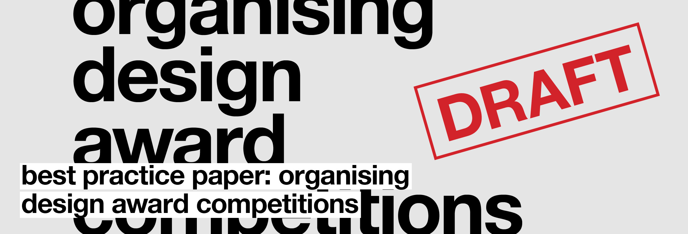 Organising Design Award Competitions