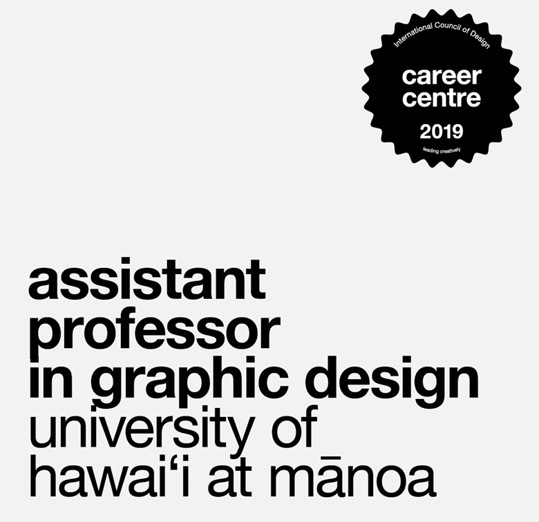 assistant professor in graphic design, university of hawai'i at manoa