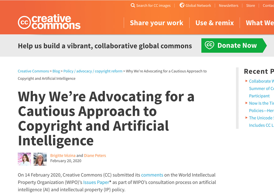 Copyrights and AI