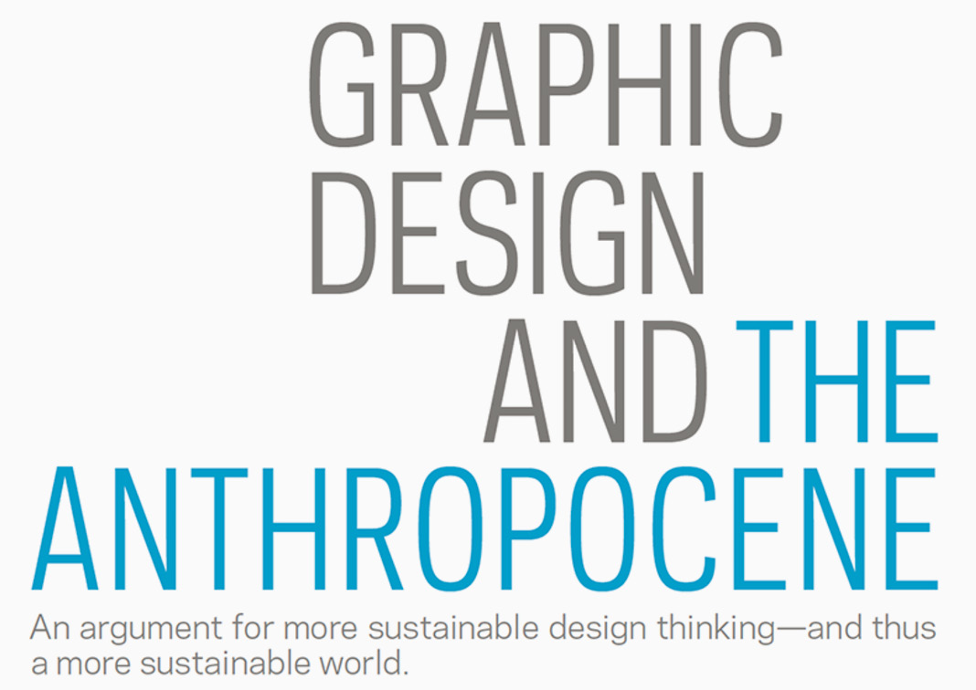 Graphic Design and the Anthropocene